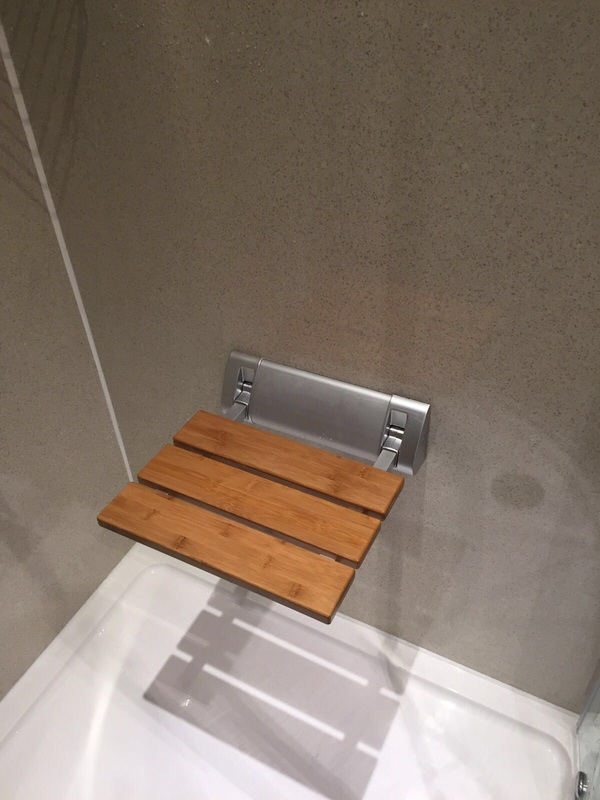 shower seat for disabled access bathroom