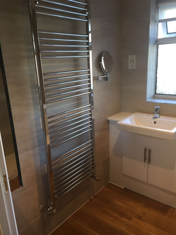 Bathroom radiator installation