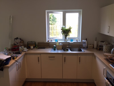 before kitchen fitted in Downton Wiltshire
