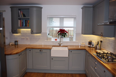 kitchen after new fitted in Downton Wiltshire